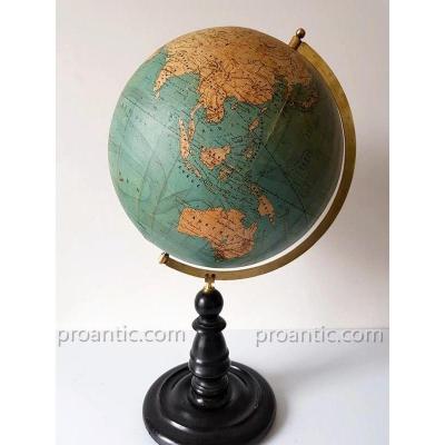 Globe Terrestre Par Louis Vivien De Saint Martin Ca 1865
