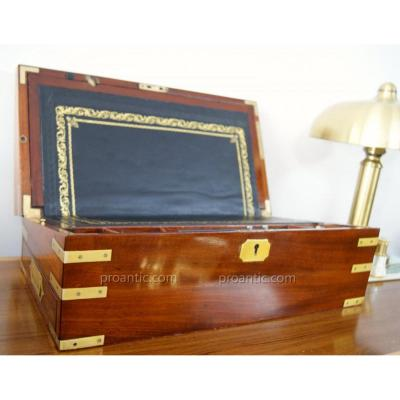 Solid Mahogany Writing Case With Secret Drawers Circa 1830