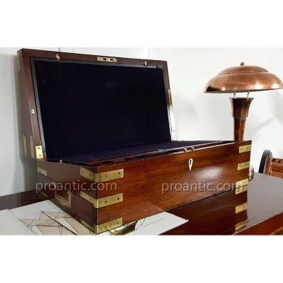 Large Mahogany Writing Box Circa 1830