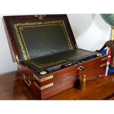 Solid Mahogany Writing Case With Secret Drawers Circa 1810