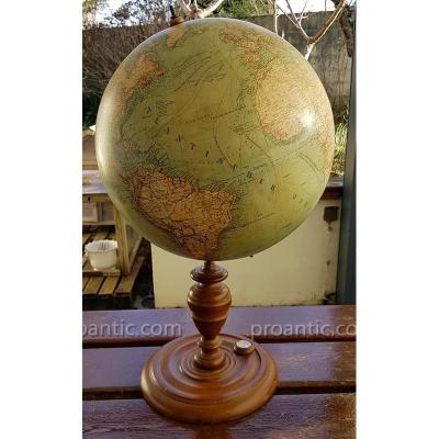 Globe Terrestre Ludwig Julius Heymann Circa 1891