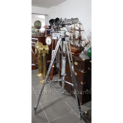 Binoculaire Grande Jumelles Semaphorique Zeiss 12x60 Wwii