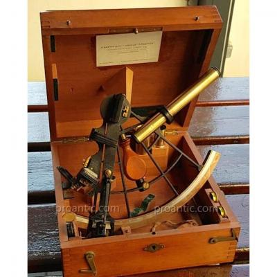 French Sextant From 19th Lorieux Ponthus