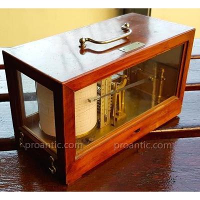 Barometer Barometer Marine Recorder Naudet Hbnp N ° 1698 Holosterique