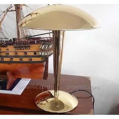 Brass Desk Mushroom Lamp Art Deco Style