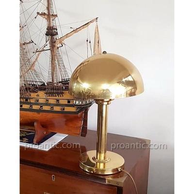 Lamp Mushroom Desk Brass Art Deco