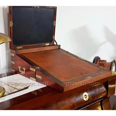 Writing Box 3 Shutters Solid Mahogany Circa 1800