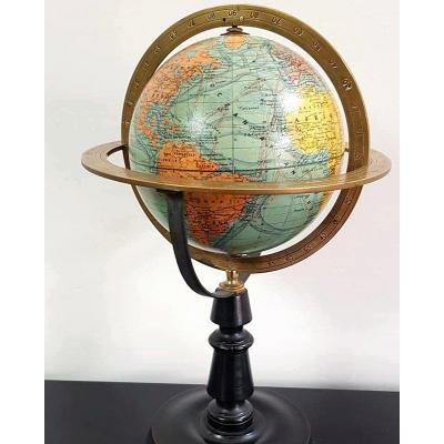 World Globe J.forest Equatorial Table Brass