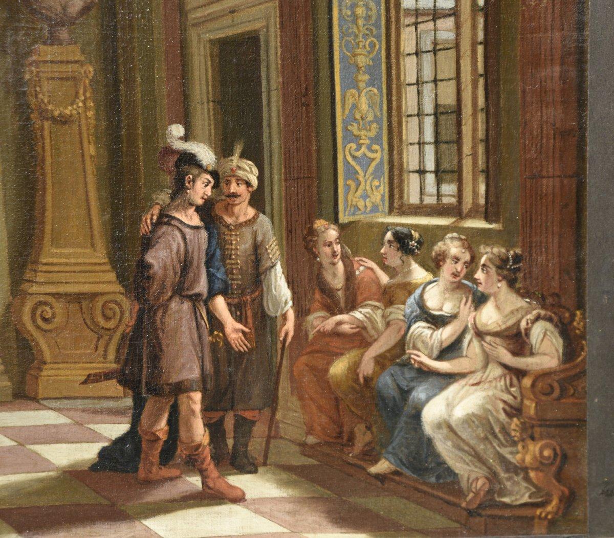 Peinture Ancienne De l'école Hollandaise Du 17ème Siècle