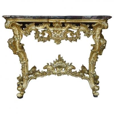Old Rococò Console From The 18th Century -italy Genoa