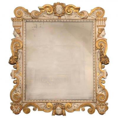Neoclassical Mirror Carved Wood