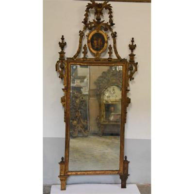 Antique Tuscan Mirror From The 1700s
