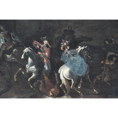 Peinture Ancienne De Dimensions Importantes Du XVIIe Siècle