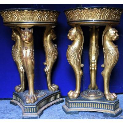 Pair Of Pedestal From The XXth Century Empire Style