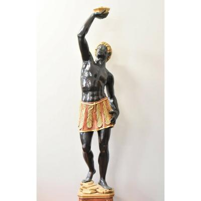 Large 20th Century Wooden Statue