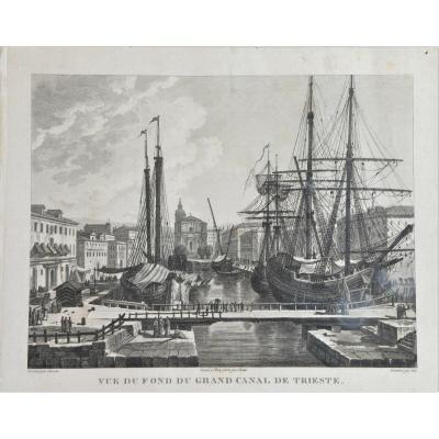 En Gravure Originale Avec Un Dessin De Cassas Louise Francoise Du XIXe SiÈcle