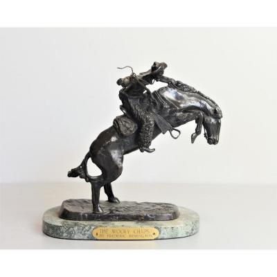 Statuette En Bronze Signée Frederic Remington De 1900