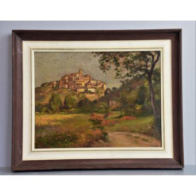 1900 Peinture Huile Sur Panneau - Peintre Paysagiste Italien Français
