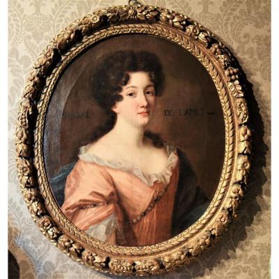 Portrait Ancien De l'école Française Du XVIIe Siècle