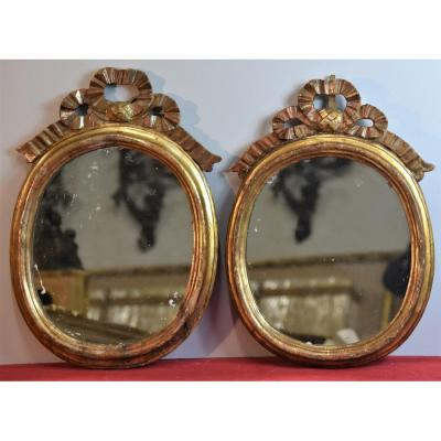Old Pair Of Mirrors From The 18th Century