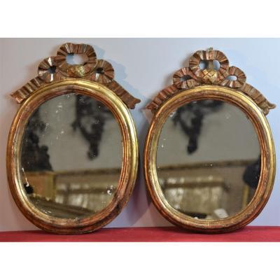 Ancienne Paire De Miroirs Du 18ème Siècle