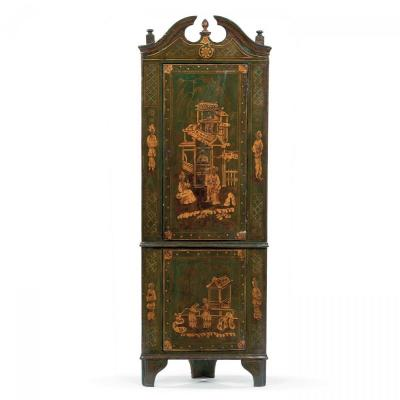Old Corner Wardrobe From The Eighteenth Century