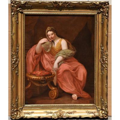 Old Painting From The Eighteenth Century Roman School