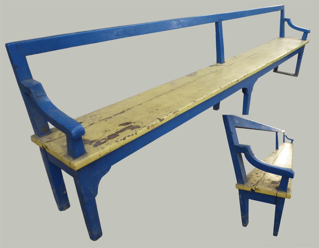 banc de bois accotoirs autres meubles. Black Bedroom Furniture Sets. Home Design Ideas