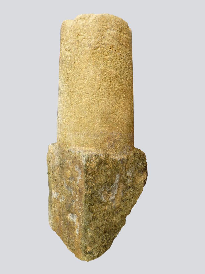 Large Old Stone Bollard