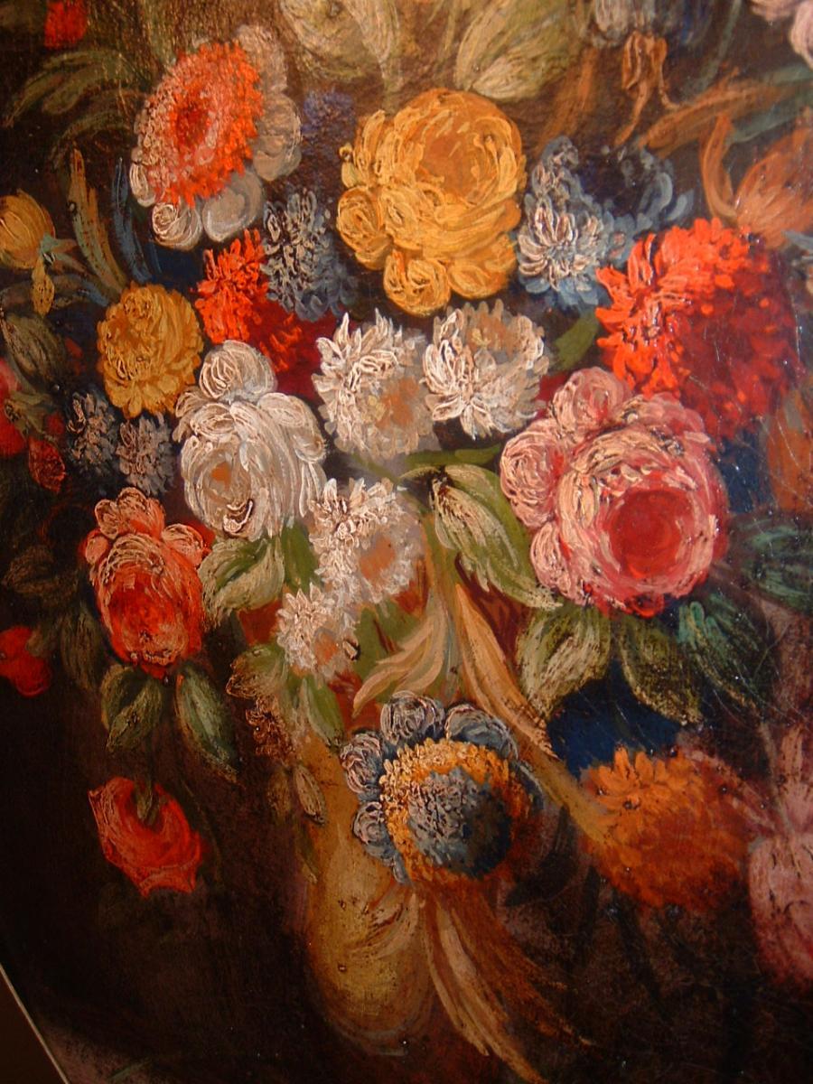Nature Morte Aux Fleurs Epoque XVIIIème Siècle