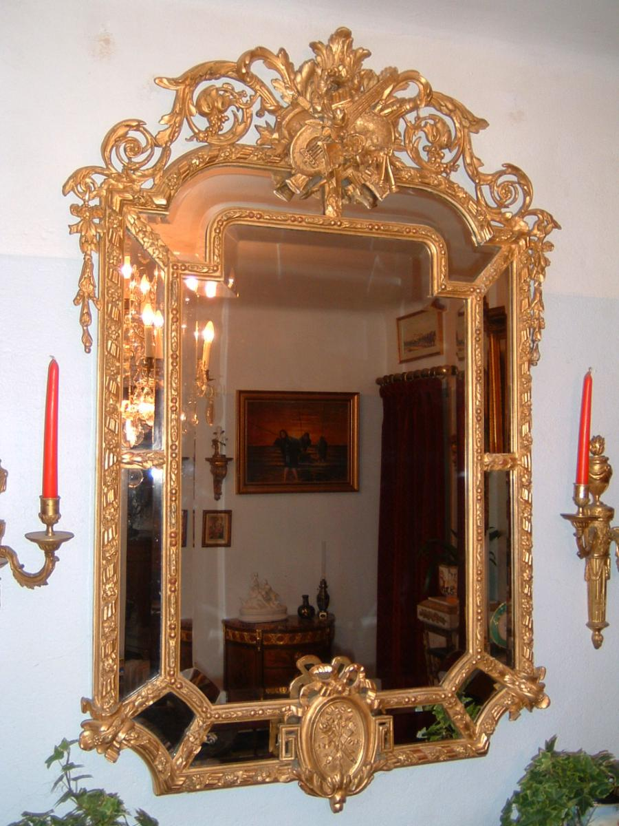 miroir parclose de style louis xvi epoque xix me si cle miroirs. Black Bedroom Furniture Sets. Home Design Ideas