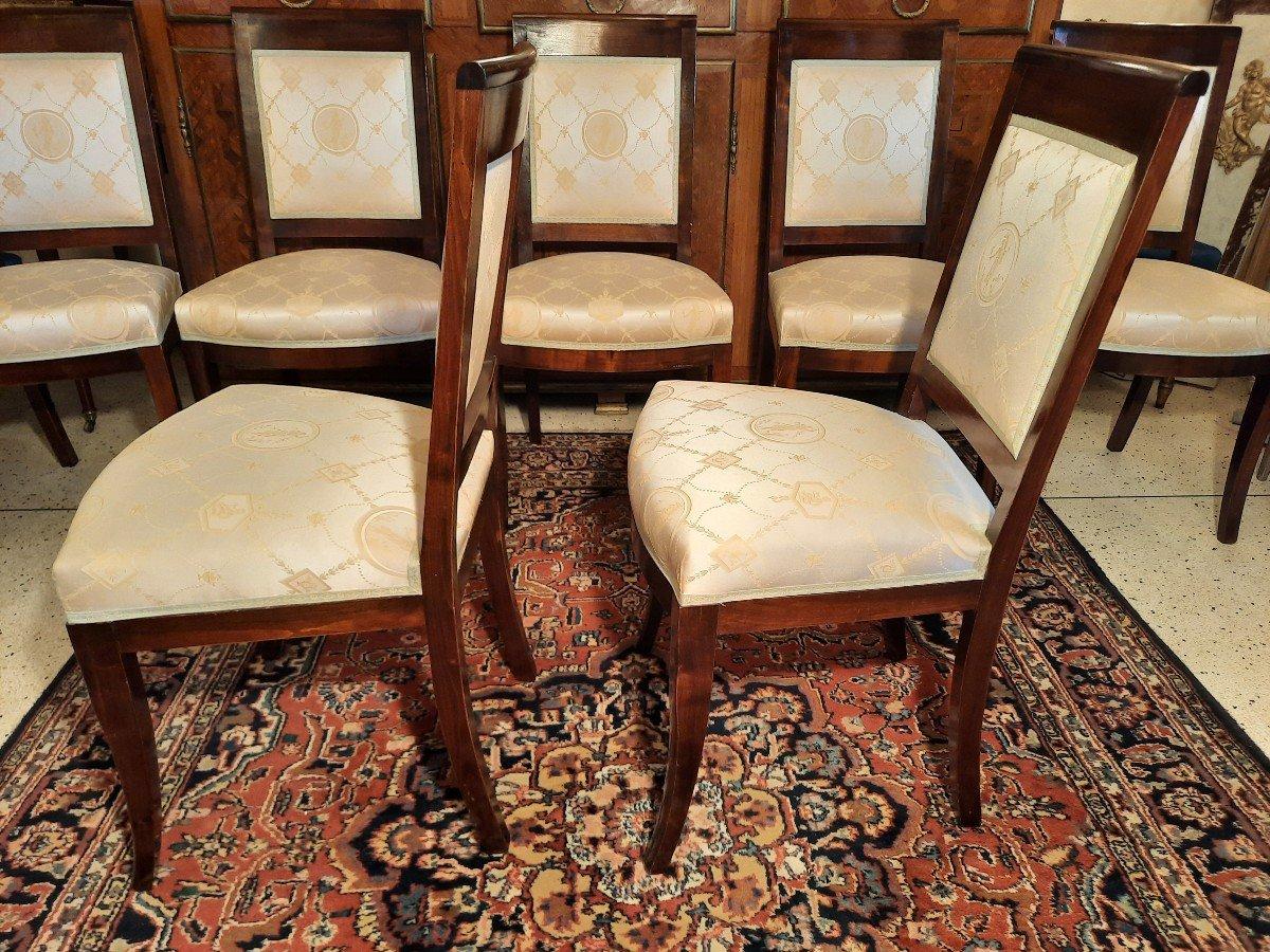 Suite De Huit Chaises Style Empire Epoque  XIXème Siècle-photo-1