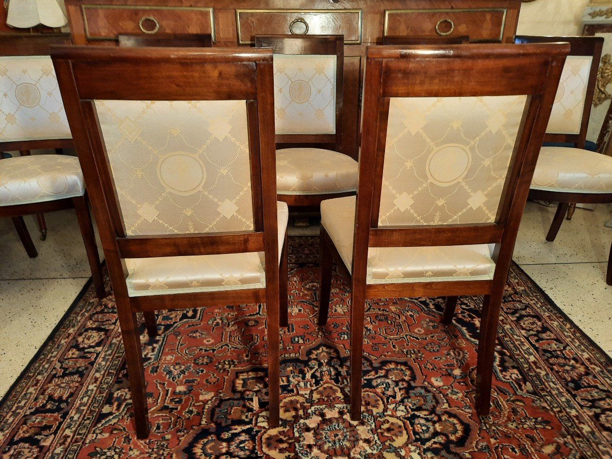 Suite De Huit Chaises Style Empire Epoque  XIXème Siècle-photo-2