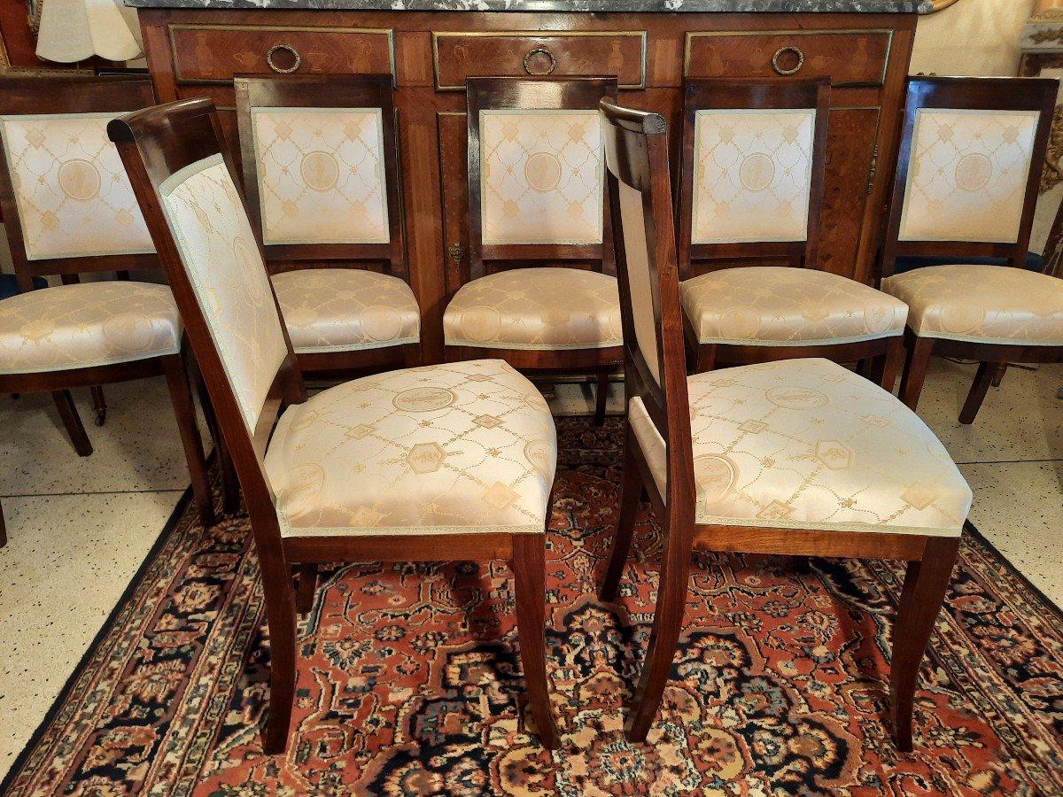 Suite De Huit Chaises Style Empire Epoque  XIXème Siècle-photo-3