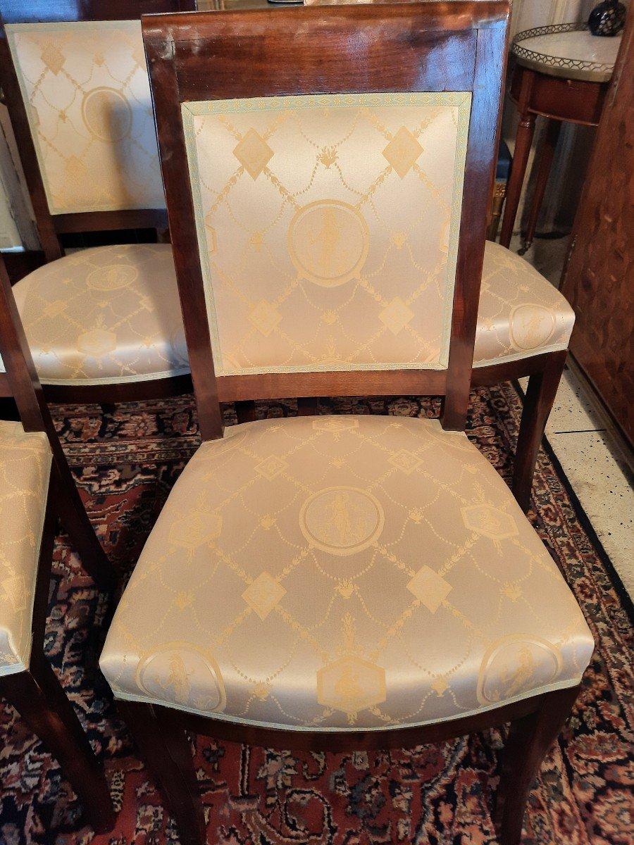 Suite De Huit Chaises Style Empire Epoque  XIXème Siècle-photo-5