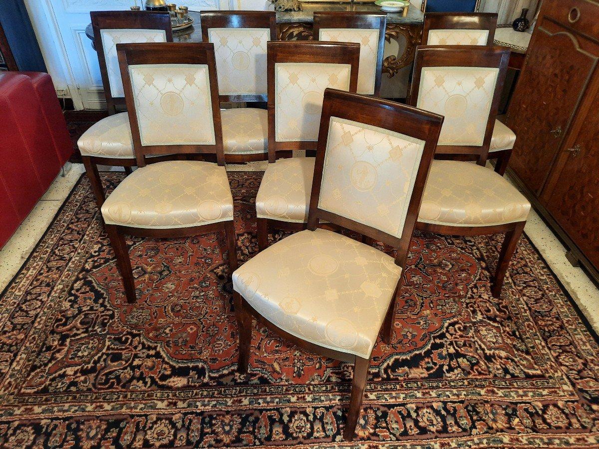 Suite De Huit Chaises Style Empire Epoque  XIXème Siècle