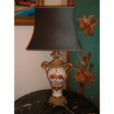 Lampe En Porcelaine De Paris époque XIXème Siècle