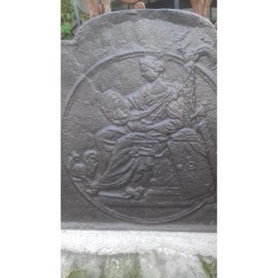 Plaque De Cheminée XVIIIème Siècle