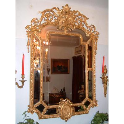 Miroir à Parclose De Style Louis XVI Epoque XIXéme Siècle