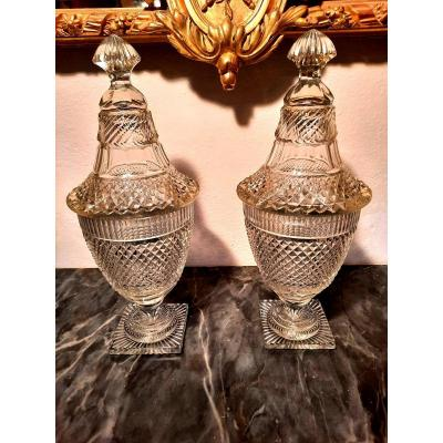 Pair Of Baccarat Drageoirs