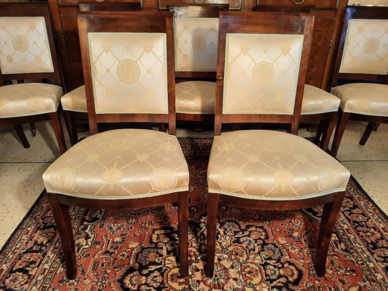 Suite De Huit Chaises Style Empire Epoque  XIXème Siècle-photo-4