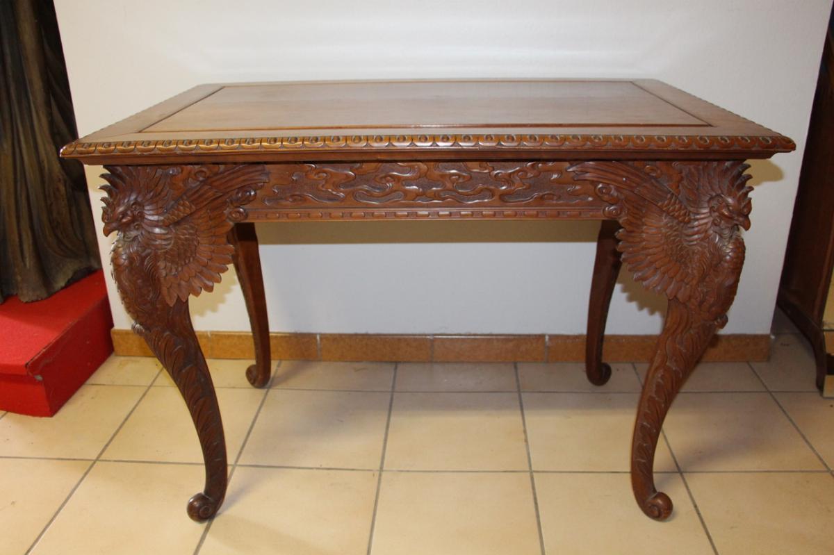 Table De Milieu Sculpté d'époque XIXe