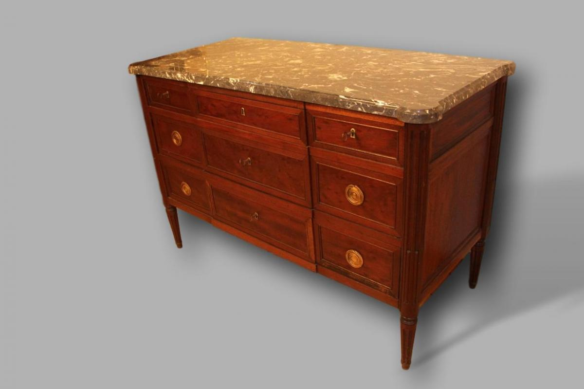 Commode Louis XVI Stamped Schiler