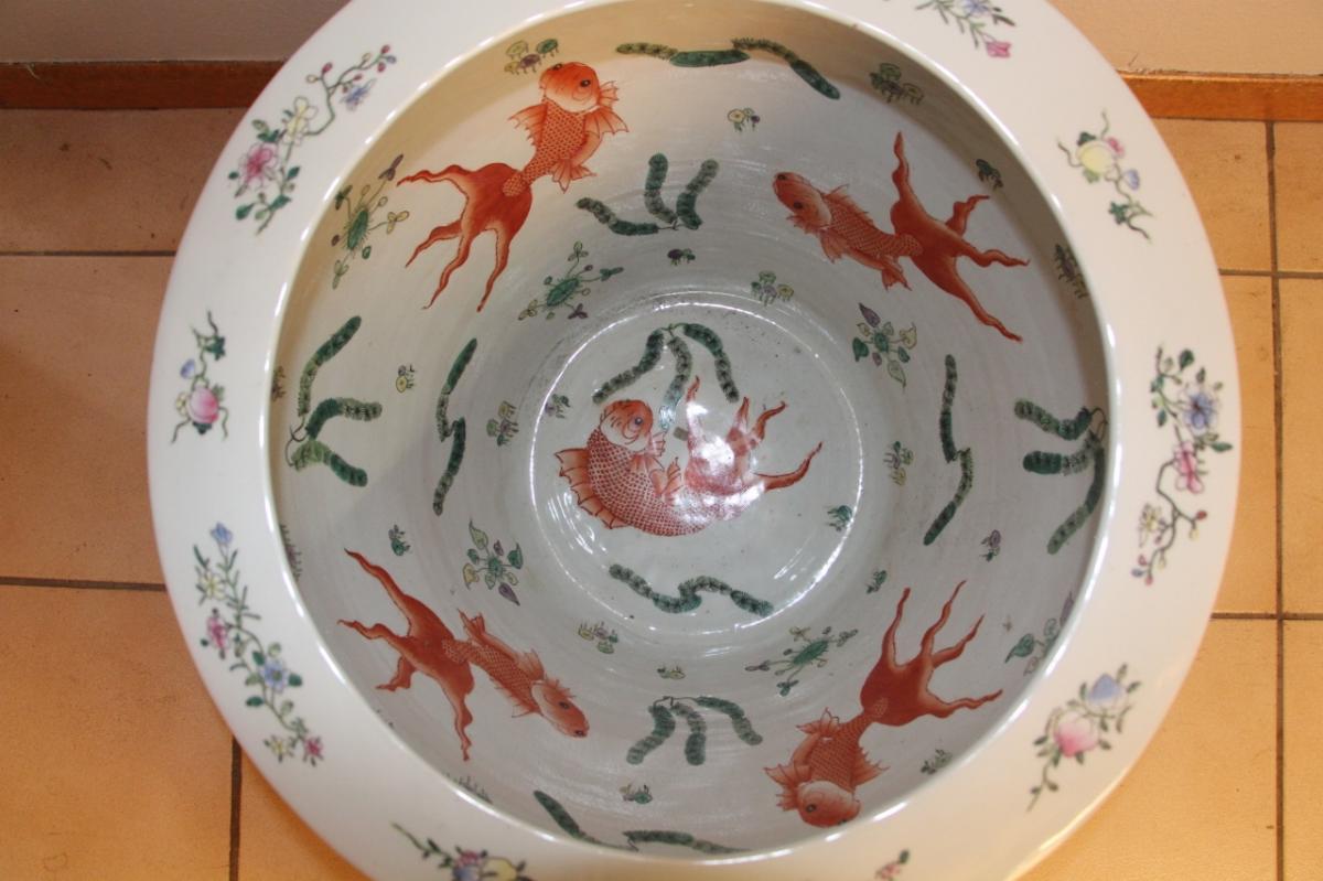 Grand Aquarium Porcelaine De Chine -photo-2