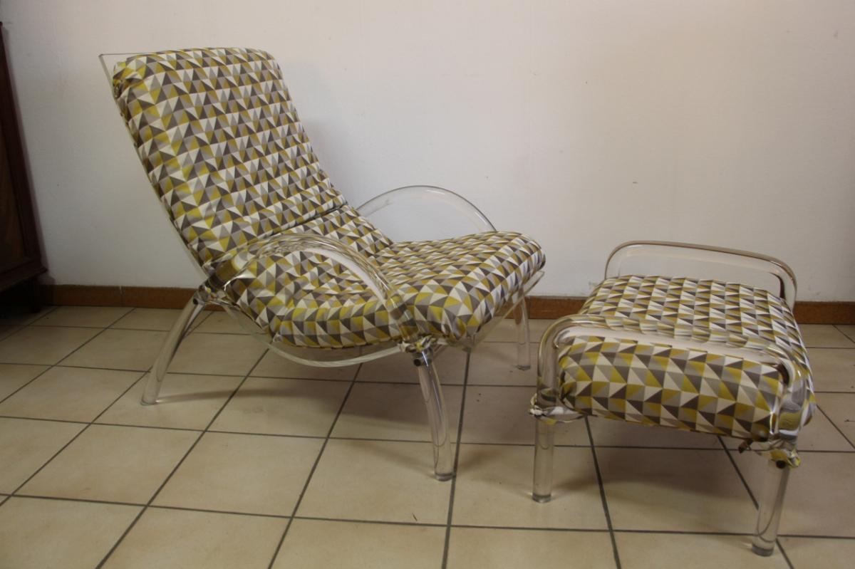chaise longue plexi 1980