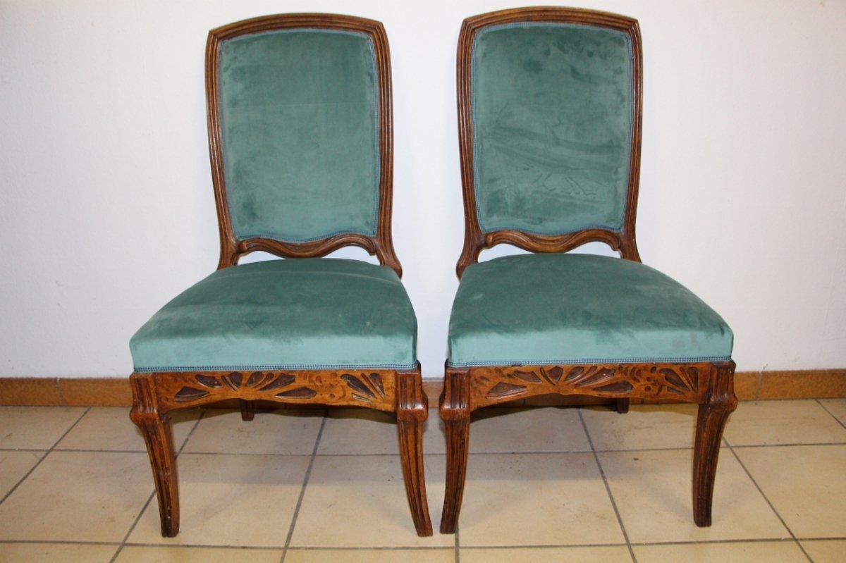 "Pair Of Chairs ""cradles Pres"" Emile Gallé-photo-2"