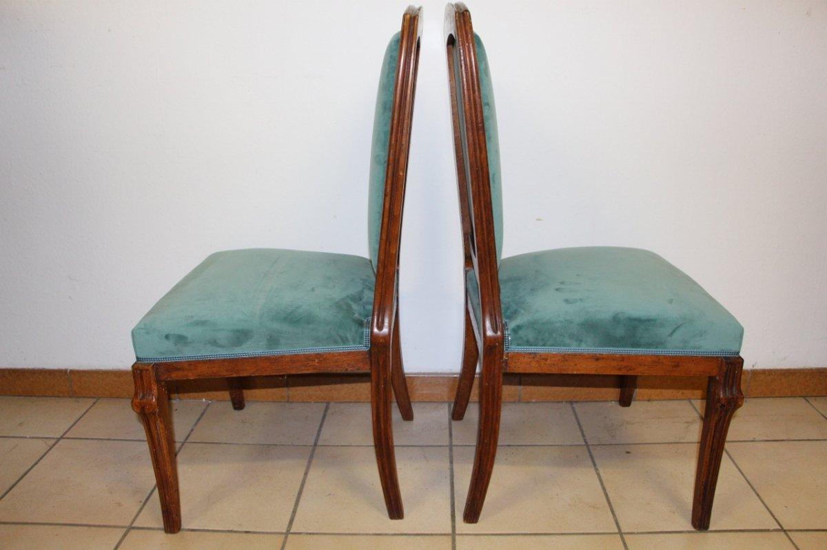 "Pair Of Chairs ""cradles Pres"" Emile Gallé-photo-3"