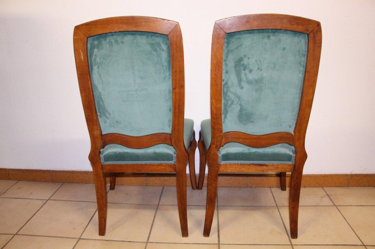 "Pair Of Chairs ""cradles Pres"" Emile Gallé-photo-4"