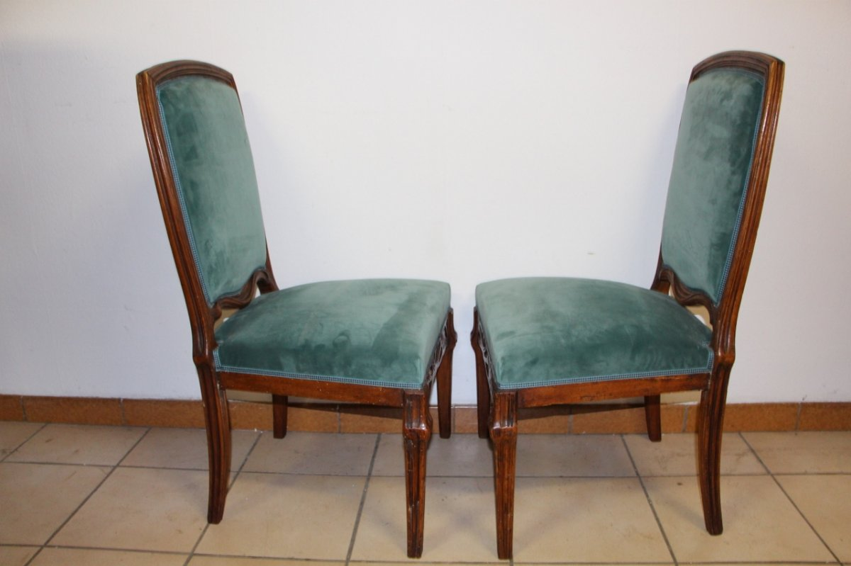 "Pair Of Chairs ""cradles Pres"" Emile Gallé-photo-1"
