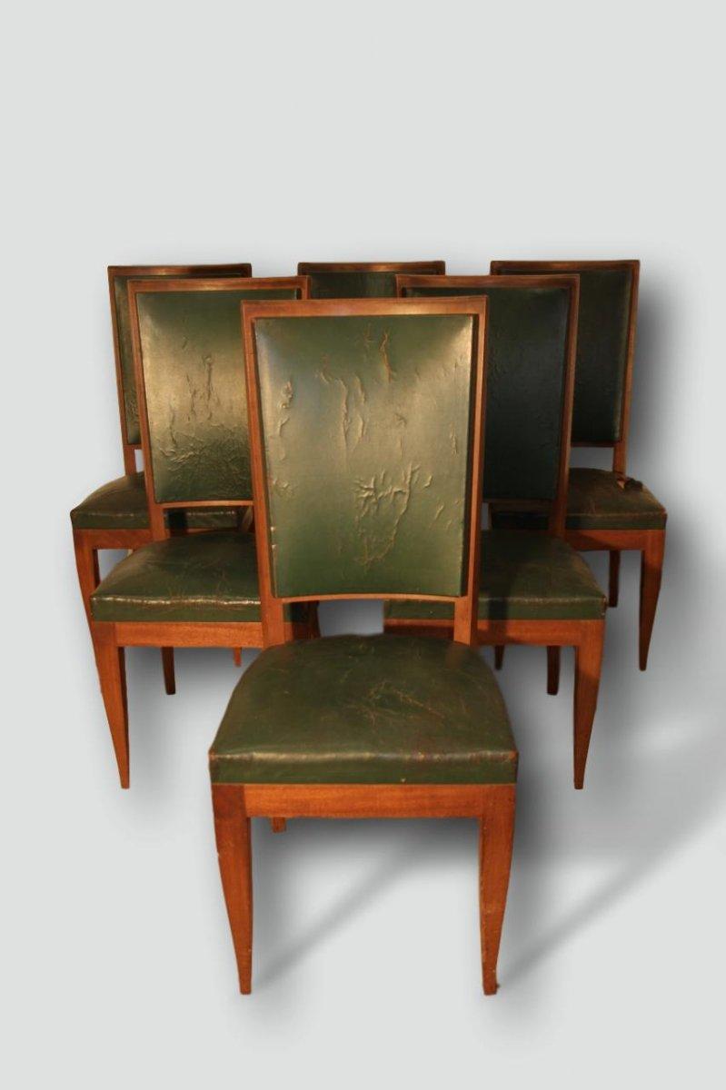 Series Of 6 Art Deco Mahogany Chairs